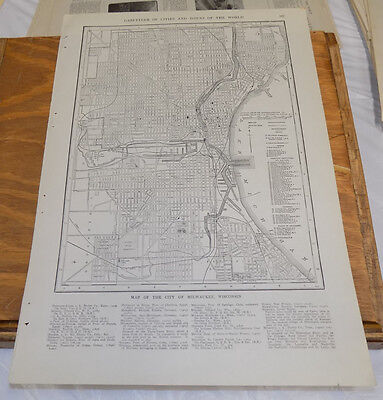 1912 Collier's City Map////MILWAUKEE, WISCONSIN