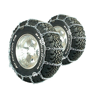 Titan Truck Link Tire Chains CAM Type On Road Snow/Ice 7mm 295/75-22.5