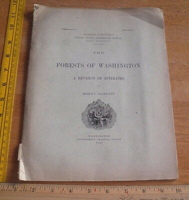 Forest Conditions of Washington 1902 US Geological Survey book Henry Gannett 42p