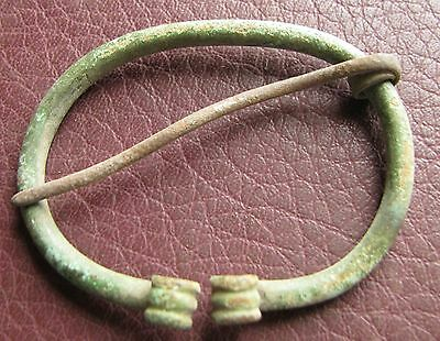 Authentic Ancient Lake Ladoga VIKING Artifact > Bronze Fibula Brooch AA36