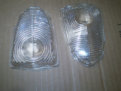 1951 Chevy Parking Lamp Lenses Pair Glass Vintage