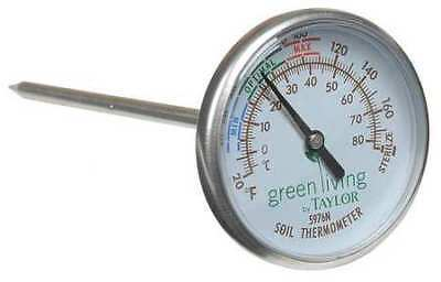 TAYLOR 5976-35 Bimetal Thermom, 2 In Dial, 20 to 180F