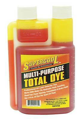 SUPERCOOL TD8 Engine Fluid Leak Detection Dye, 8 Oz
