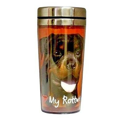 ROTTWEILER - SS 16-oz Hot/Cold insulated Tumbler - Open/Shut Screw-on Lid