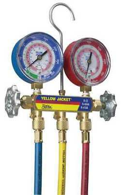 YELLOW JACKET 42004 Mechanical Manifold Gauge Set, 2-Valve