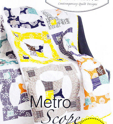 Metro Scope - fabulous pieced quilt PATTERN - uses Quick Curve Ruler