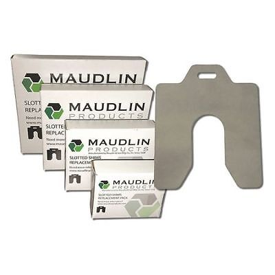 "MAUDLIN PRODUCTS MSA005-20 Slotted Shim A-2 x 2"" x 0.005"", Pk20"
