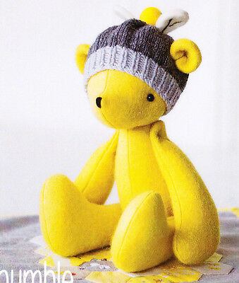 PATTERN - Bumble - fun softie/toy teddy bear PATTERN from May Blossom