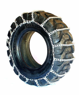 Titan Truck Link Tire Chains Wide/Dual Mount On Road Snow/Ice 8mm 36x13.50-15