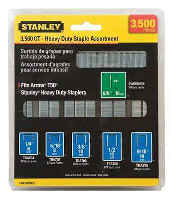 STANLEY TRA700BN35 Heavy-Duty Narrow Crown Staple and Brad Assortments – 3,500