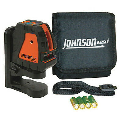 JOHNSON 40-6650 Cross Line Laser, Int, Red, 150 ft.