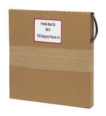 PAC STRAPPING PRODUCTS 1/2x.015-300 Steel Strapping,15 mil,300 ft. L