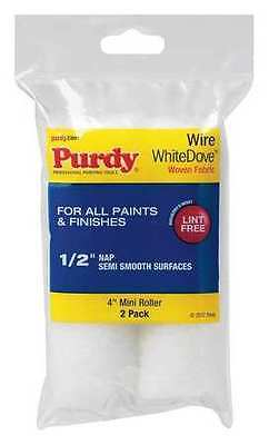 PURDY 140606044 Paint Roller Cover, 1/2 in. Nap, PK2