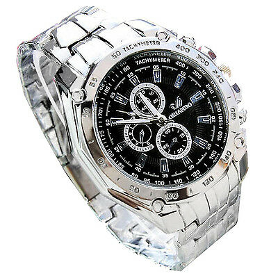CFSZ ORLANDO Mens Fashion Stainless Steel Luxury Sport Analog Quartz Wrist Watch