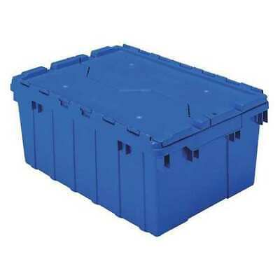 Blue Attached Lid Container, 8 gal Capacity, 39085BLUE, Akro-Mils
