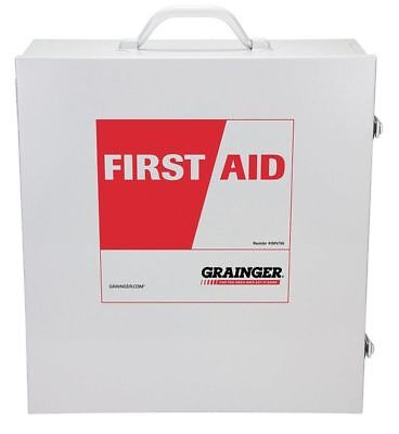 ZORO SELECT 54534 Empty First Aid Cabinet, Metal Case