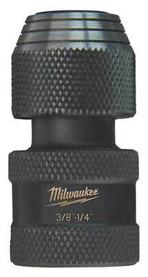 MILWAUKEE 48-03-4405 Impact Adapter, 3/8 Dr In, 1/4 Hex Shank