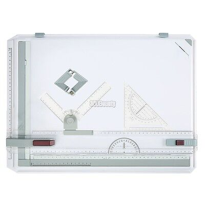 A3 Multi-Function Plastic Drawing Board College School Parallel Motion