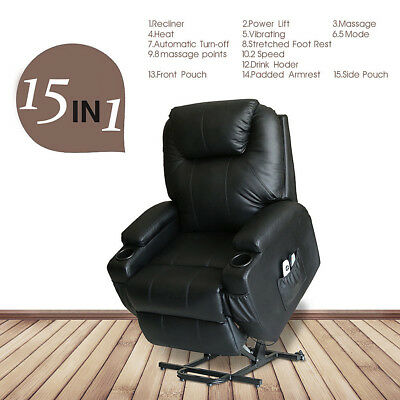 electric massage sofa chair power lift recliner heated vibrating