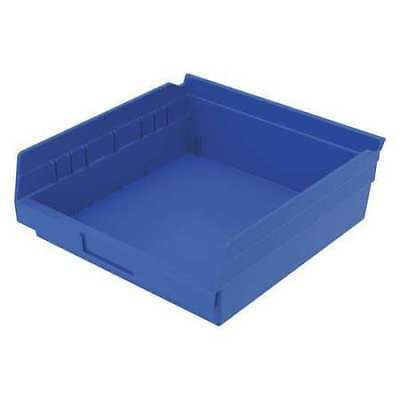 "Blue Shelf Bin, 11-5/8""L x 11-1/8""W x 4""H AKRO-MILS 30170BLUE"