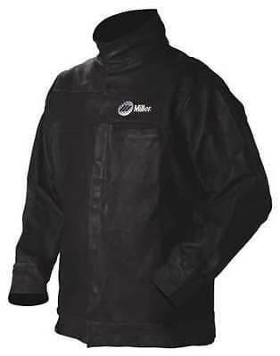 MILLER ELECTRIC 231090 Jacket,Black,Pigskin Leather,Large