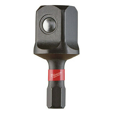 "MILWAUKEE 48-32-5022 Shockwave™ 1/4"" to 1/2"" Square Socket Adapter, 1-1/2"" L"