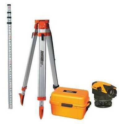 JOHNSON 40-6963 Automatic Level Kit,32X,450 ft