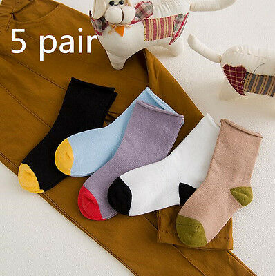 Newest 5 Pairs Comfortable Fashion Infant Socks Cotton Children's Baby Socks