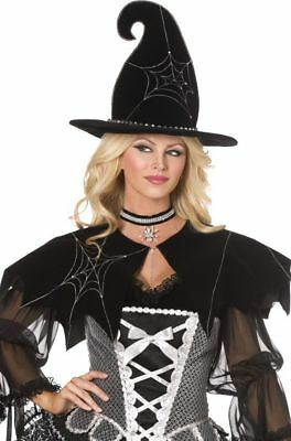 Spider Web Witch Cape Halloween Fancy Dress Costume Accessory P5818