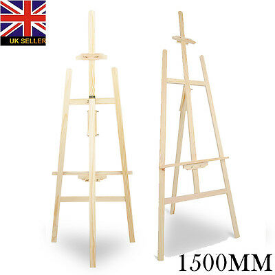 5ft (1500MM) PINE WOOD STUDIO EASEL  STAND ARTIST ART CRAFT DISPLAY PAINTING