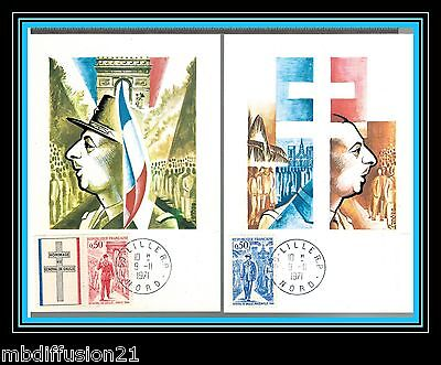 1971/fdc Cp(2)**general De Gaulle-Hommage-59.lille-Nord**timbre/y/t 1696/7