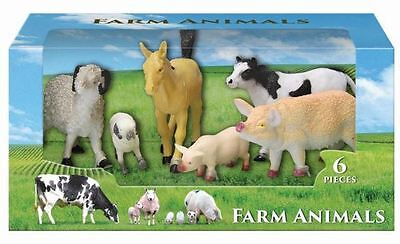 Plastic Farm Animal Figure Toy Playset For Children