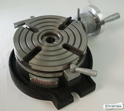 TS160A 160 mm Horizontal Rotary Table for Milling Machine from Chronos