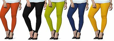 Wholesale Lot 5 Pcs Indian Women Ankle Length Legging Cotton Stretch Yoga Pants