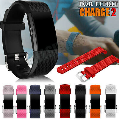 New Design Diamond Sports Soft Silicone Bracelet Strap Band For Fitbit Charge 2