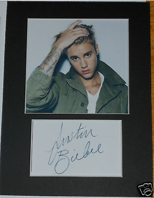 justin Bieber signed mounted autograph 8x6 photo print display  #AD2