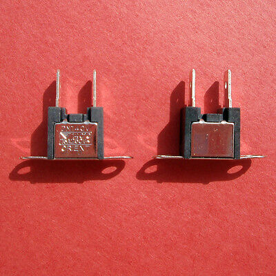 "LOT 100 Thermal Fuse Orient Company DM 140V, Surface Mount, 1/4"" spade connector"
