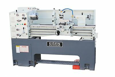 EISEN 1440GE Precision Lathe, 3HP, Single-Phase, Heavy Cast-Iron Base, FREE DRO