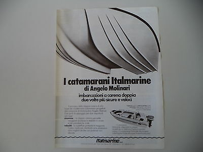 advertising Pubblicità 1980 CATAMARANI ITALMARINE DI ANGELO MOLINARI