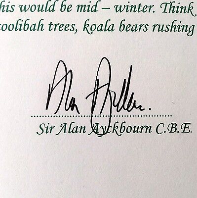 Sir Alan Ayckbourn Hand Signed Autograph Author /playwright