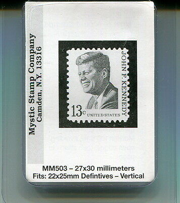 New Mystic Stamp Mounts-Size 27 X 30 Millimeters-Mm503-50 Pack!