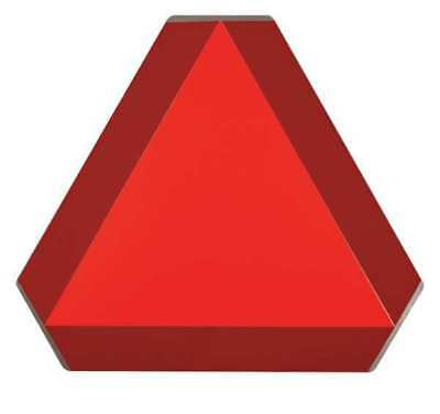 Slow Moving Vehicle Sign,14x16,Orng/Red BRADY 57893