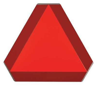 Slow Moving Vehicle Sign,14x16,Orng/Red