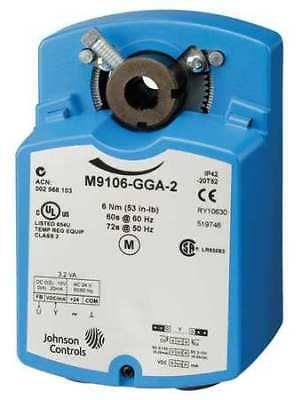 JOHNSON CONTROLS M9106-AGA-2 Electric Actuator, 53 in.-lb., -4 to 125