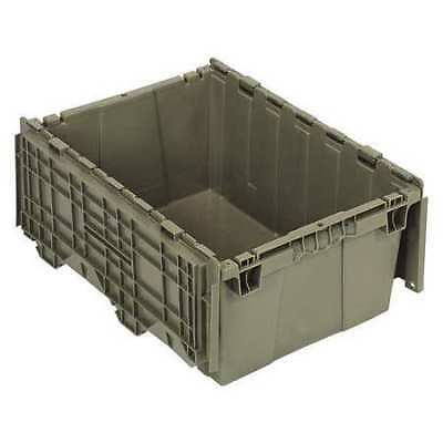 Attached Lid Container, 1.27 cu. ft., Gray QUANTUM STORAGE SYSTEMS QDC2115-9