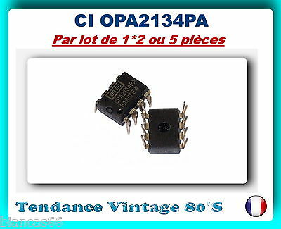 *** Lot De 1*2 Ou 5 Ampli Op Opa2134Pa - Aop Audio Haute Performance ***