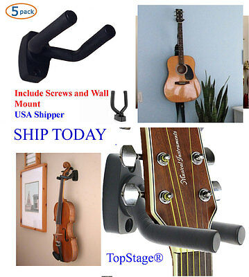 5-PACK Guitar Hanger Holder Wall Mount Display Acoustic Electric GRAK1-Q5