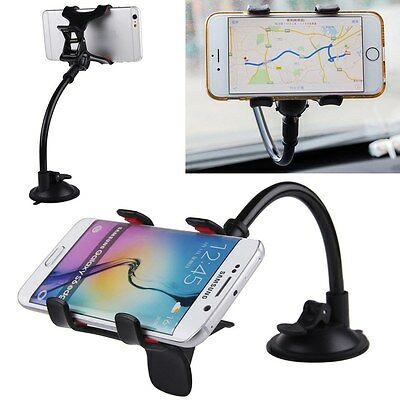 Universal 360° Soporte de Coche Parabrisas Holder Para GPS Movil IPHONE SAMSUNG