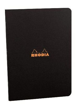 Rhodia #119169 Staplebound Notebook 8-1/4 x 11-3/4, Black Cover, Lined