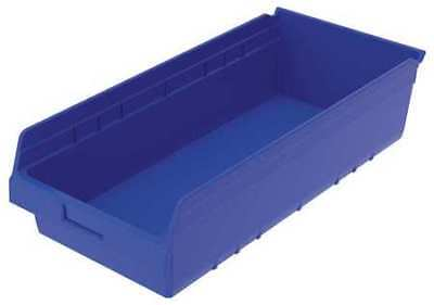 "Blue Shelf Bin, 23-5/8""L x 11-1/8""W x 6""H AKRO-MILS 30014BLUE"